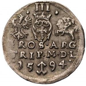 Zygmunt III Waza (1587-163) - Trojak 1594 Wilno