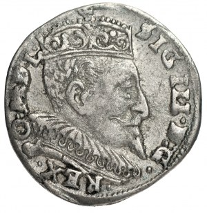 Zygmunt III Waza (1587-163) - Trojak 1594 Wilno z rozetami przy nominale