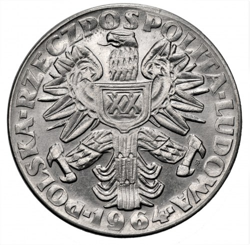 PRÓBA NIKIEL - 20 złotych 1964 Kobieta ze zbożem