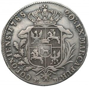 Stanisław II August Poniatowski (1764-1795) - Półtalar 1788 EB