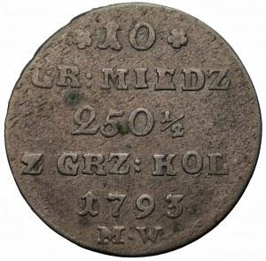 Stanisław August Poniatowski (1764-1795) - 10 groszy 1793 MW