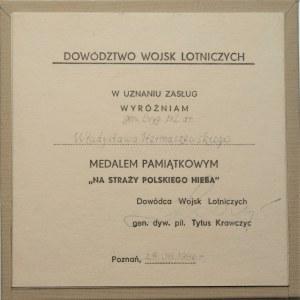 Medal w uznaniu zasług dla gen. Bryg. pil. dr. Władysława Hermaszewskiego 1986