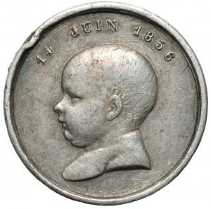 FRANCJA - Napoleon III - medalik Narodziny cesarskiego księcia 14 juin 1856