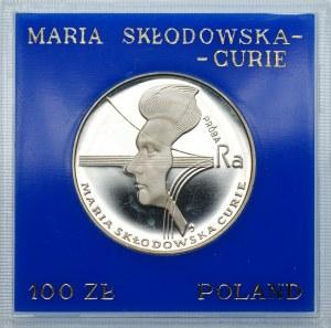PRÓBA - 100 złotych 1974 - Maria Skłodowska Curie