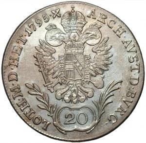 AUSTRIA - 20 krajcarów 1795 (G) Baia Mare