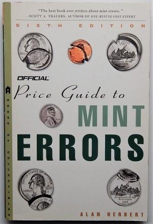 Alan Herbert - Official Price Guide to Mint Errors - ed. 6 - EX LIBRIS Jerzego Chałupskiego