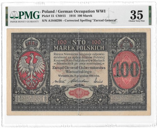 100 marek 1916 Generał - PMG 35