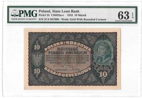 10 marek 1919 - II Serja CS - PMG 63 EPQ
