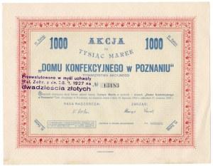 Towarzystwo Akcyjne Domu Konfekcyjnego w Poznaniu - 1000 marek - VI Emisja