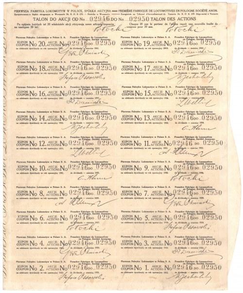 Pierwsza Fabryka Lokomotyw w Polsce - 5 x 500 marek 1919 - RZADKA