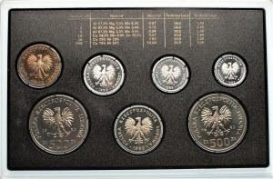 Zestaw rocznikowy 1989 - stempel lustrzany 7 sztuk monet