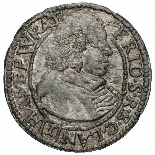 ŚLĄSK - Księstwo Nyskie Biskupów Wrocławskich - Fryderyk Heski - 1 krajcar 1680 Nysa