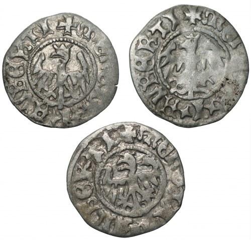 Jan I Olbracht (1492-1501) - zestaw 3 sztuk Półgroszy