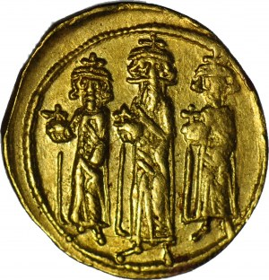 Cesarstwo Bizantyjskie, Herakliusz 610-641, Solidus bez daty, Konstantynopol