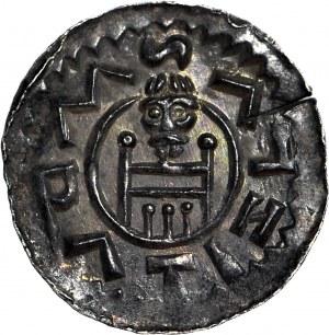 Czechy, Wratysław II 1061–1092, Denar, Książę z włócznią/Książę na tronie, menniczy