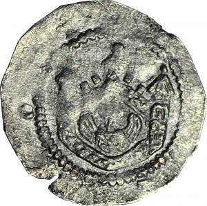 Czechy, Władysław II 1140-1158, Denar, Budowla/Postacie