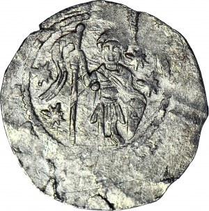 Czechy, Władysław II 1140-1158, Denar, Rycerz/Postacie