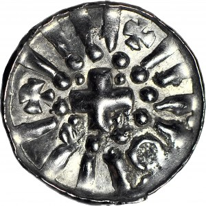 R-, Denar krzyżowy X/XIw. Świątynia / krzyż
