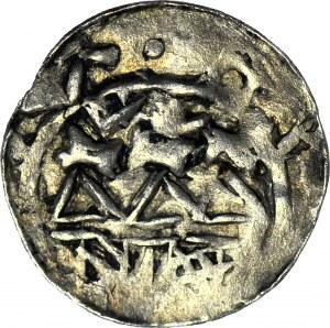 RRR-, Władysław I Herman 1081-1102, Denar, głowa w LEWO zamiast w prawo
