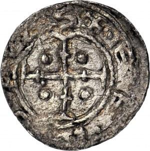 Bolesław III Krzywousty 1107-1138, Denar, Książę na tronie, DENERIV.....S