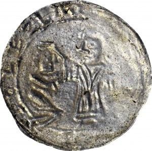 Bolesław III Krzywousty 1107-1138, Brakteat protekcyjny po 1113 r., Kraków