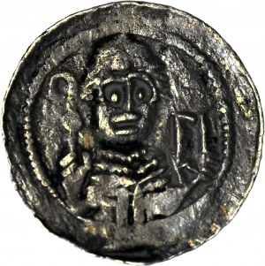 Władysław II Wygnaniec 1138-1146, Denar, książę i biskup, litera S, rzadki