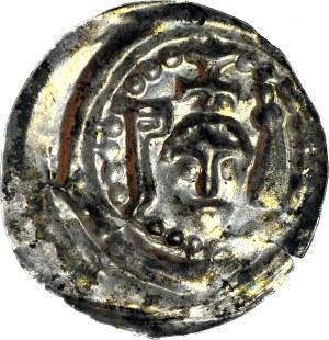 RR-, Polska dzielnicowa, Henryk I Brodaty 1201-1238 lub Henryk II Pobożny 1238-1241, Brakteat ratajski, R6