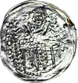 RR-, Bolesław V Wstydliwy 1243-1279, Denar, ok. 1254, Kraków, Św. Wacław - JEDNOSTRONNY