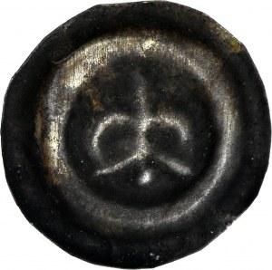 R-, Świętopełk II Wielki 1220-1266, Brakteat, Gdańsk, Lilia na prostej arkadzie, R4