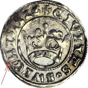 Ludwik Jagiellończyk 1516-1526, Półgrosz 1526, Świdnica, odwrócone N