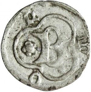 RR-, Śląsk, Księstwo Cieszyńskie, Bolesław I, Halerz, ok. 1430 Cieszyn, bardzo rzadki