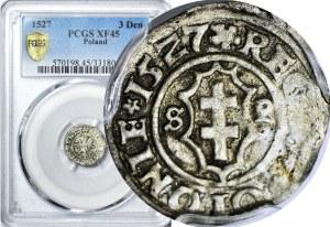 R-, Zygmunt I Stary, Ternar koronny 1527, Kraków, R2