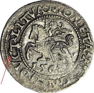 RR-, Zygmunt II August, Półgrosz 1563, Wilno, DVCT zamiast DVCAT
