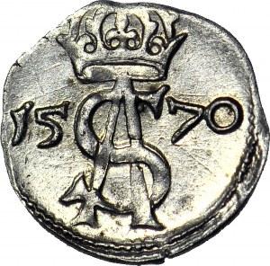Zygmunt II August, Dwudenar 1570 Wilno, menniczy