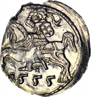 R-, Zygmunt II August, Denar 1555, Wilno, T.6 mk, menniczy
