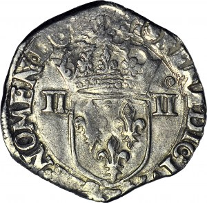 Henryk Walezy, Król Polski, 1/4 Ecu 1589 T, Nantes