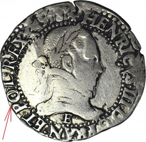 R-, Henryk Walezy, Król Polski, Frank 1578 E, Tours