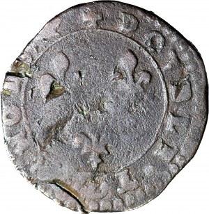 Henryk Walezy, Król Polski, Dwudenar A, Paryż, duża głowa