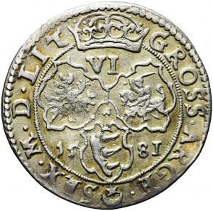 RRRR-, Stefan Batory, Szóstak 1581, Wilno, bardzo rzadki