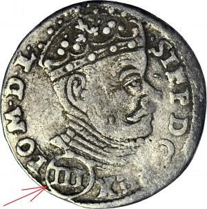 Stefan Batory, Trojak 1580, Wilno, pierwszy rocznik, pod popiersiem (III)