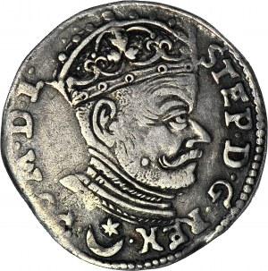 Stefan Batory, Trojak 1581, Wilno, herb Leliwa