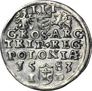 Stefan Batory, Trojak 1583, Olkusz, duża głowa, ID pod datą