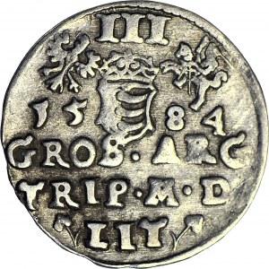 Stefan Batory, Trojak 1584, Wilno, listki przy LIT