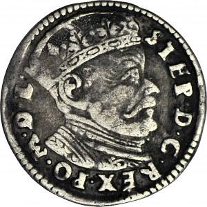Stefan Batory, Trojak 1584, Wilno, bez herbu Prus