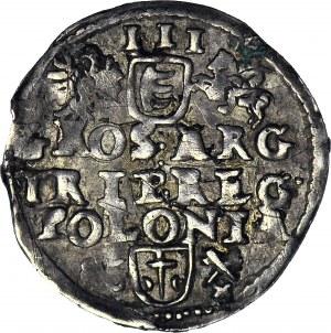 Stefan Batory, Trojak 1586, Poznań, data z lewej