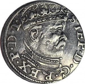 Stefan Batory, Trojak 1586, Ryga, większa głowa