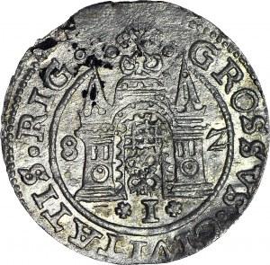 R-, Stefan Batory, Grosz 1582 Ryga, R1, piękny