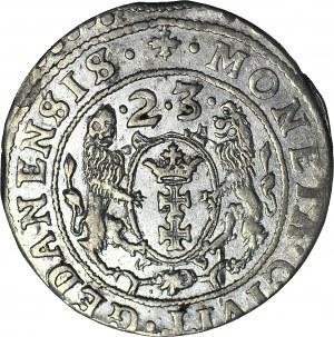 Zygmunt III Waza, Ort 1623 Gdańsk, rzadszy PRV, piękny