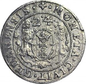 Zygmunt III Waza, Ort 1624/3, Gdańsk, PIĘKNY