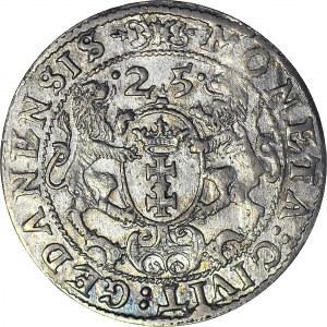 Zygmunt III Waza, Ort 1625, Gdańsk, RP, piękny